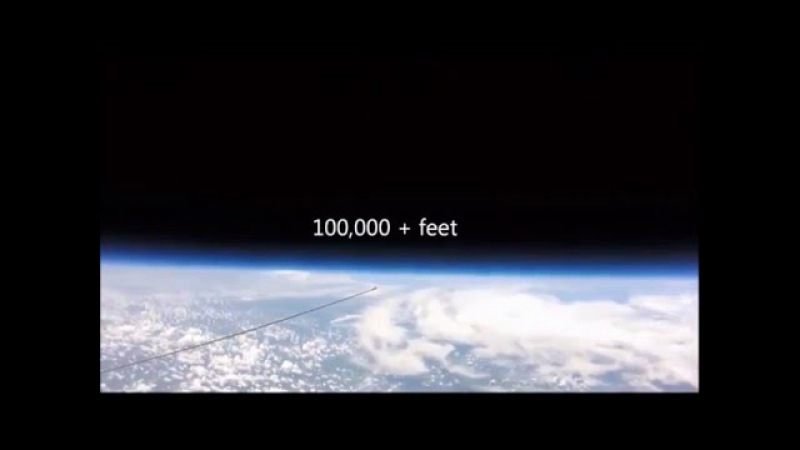 Flat Earth View from 108,000 feet ( The higher you go ... the flatter it gets! ... )