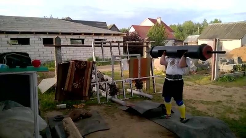 Александр Курак Беларусь бревно 165 кг стандарт IFSA подготовка к 2 этапу Гран при VPLab