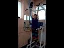 Клиентка Марина Кузьминская, подъем ног в висе 20 повторений