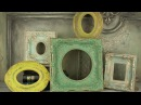 TUTORIAL Αντικέ κορνίζα ρητίνης Antique resin frame