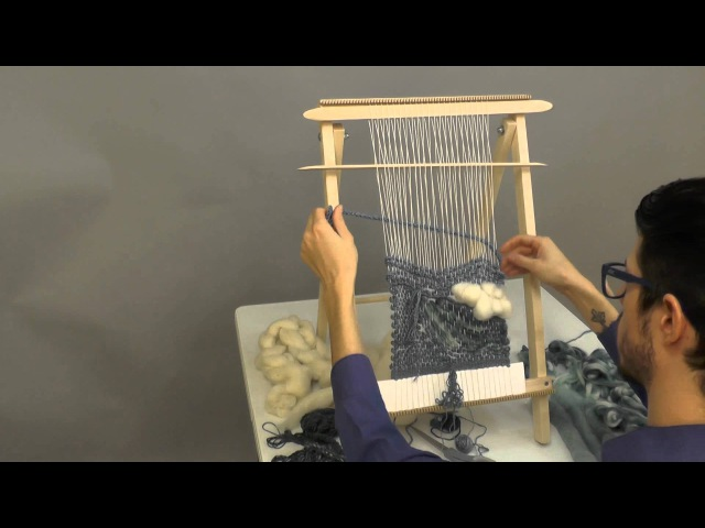Freeform Tapestry Weaving Timelapse on the Schacht School Loom