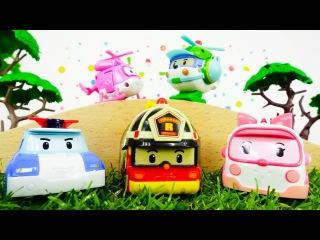 Dessin animé. ROBOCAR POLI sauve DIZZY. Vidéo avec jouets. #vidéoéducativeenfrançais