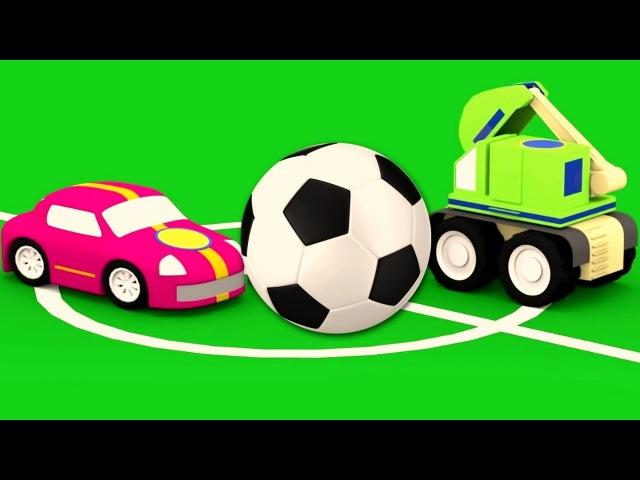 Dessin animé en français pour enfants de 4 voitures jeu au football