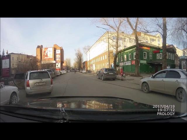 ДТП 19.04.2017 Иркутск ( двойная сплошная, сбил пешехода)