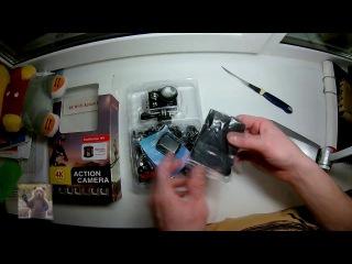 Экшн-камера за 3000р. Распаковка Eken H9R.