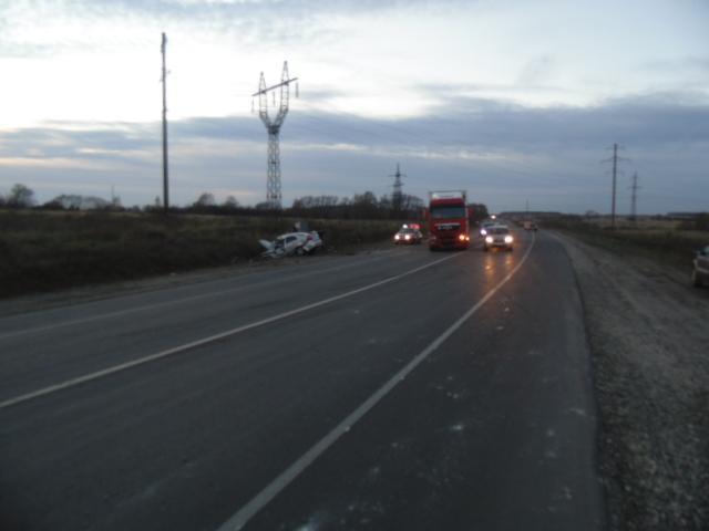 В результате ДТП водитель получил телесные повреждения