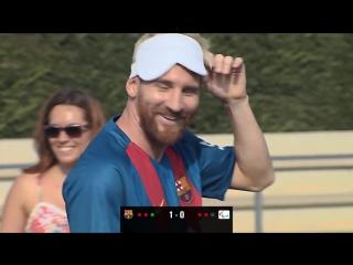 Игроки «Барселоны» сыграли в футбол с незрячими испанскими паралимпийцами | FC Barcelona [Рифмы и Панчи]
