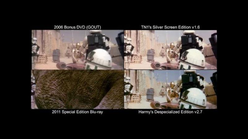 Mos Eisley - STAR WARS Original Comparison (DeEd, Blu-ray, GOUT, SSE)