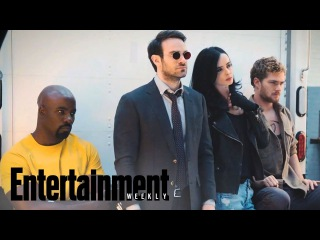 «Защитники» - фотосессия героев сериала / The Defenders: First Look At Marvel Mashup | Cover Shoot | Entertainment Weekly