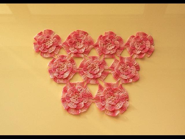 Шаль мотивами. Вязание мотива крючком. Мотивы крючком. (pattern. shawl. Crochet)