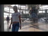 HDBERLINDESIGN.de present Model with no pants walk trough Berlin Reichstag naked girl