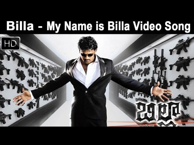 Billa Movie My Name is Billa Video Song Prabhas Anushka