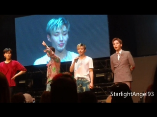 12.04.17 jongup and himchans ending speeches @ b.a.p party baby chicago boom