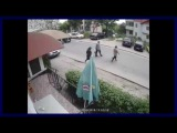 Car Lost Control And Hit Pedestrians