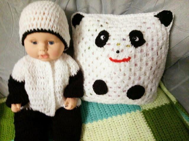 Прогулочный комплект для малыша Панда Часть 1 Комбинезон