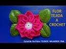Flor tejida a crochet para tejer tapetes o carpetas con flores paso a paso