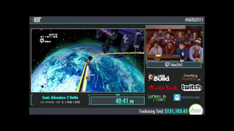 AGDQ 2015 Sonic Adventure 2 Battle All Stories Speed Run in 1:39:11 by Talon2461 AGDQ2015 60fps