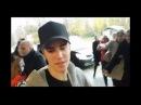Full video of Justin Bieber leaving Zagreb, Croatia through airport hugging fans - November 11, 2016