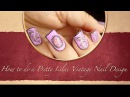 How to do a Pretty Lilac Vintage Nail Design