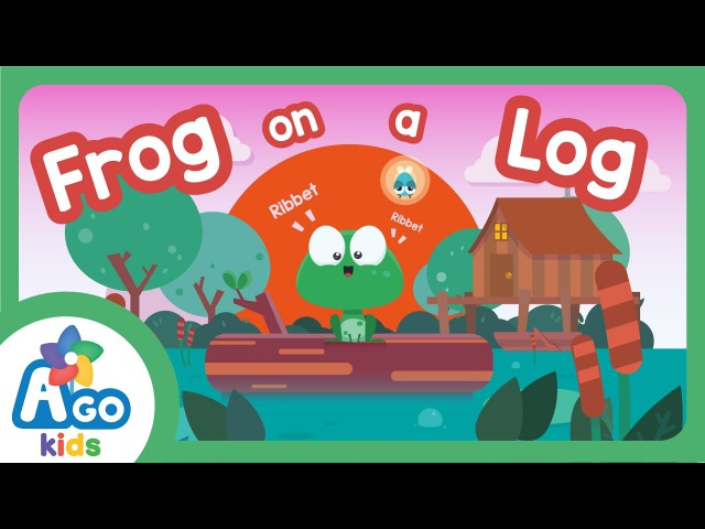 Frog on a Log Song | There is, There are | AGO Kids ESL