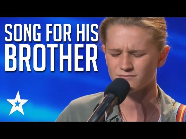 Brave Emotional Song For His Brother | Fletcher Pilon Audition Australia's Got Talent