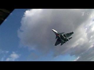 Российский Су-33 при посадке наавианосец выкатился запределы палубы, пилот кат...
