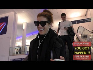 Kate Walsh talks about men with soft hands while arriving at LAX Airport in Los Angeles