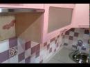 Кухня розово-лиловый верх и бордовый низ.