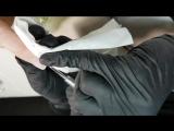 """Подготовка кутикулы и птеригия к скоростному маникюру за 10 минут в технике """"Глубокая нить""""."""
