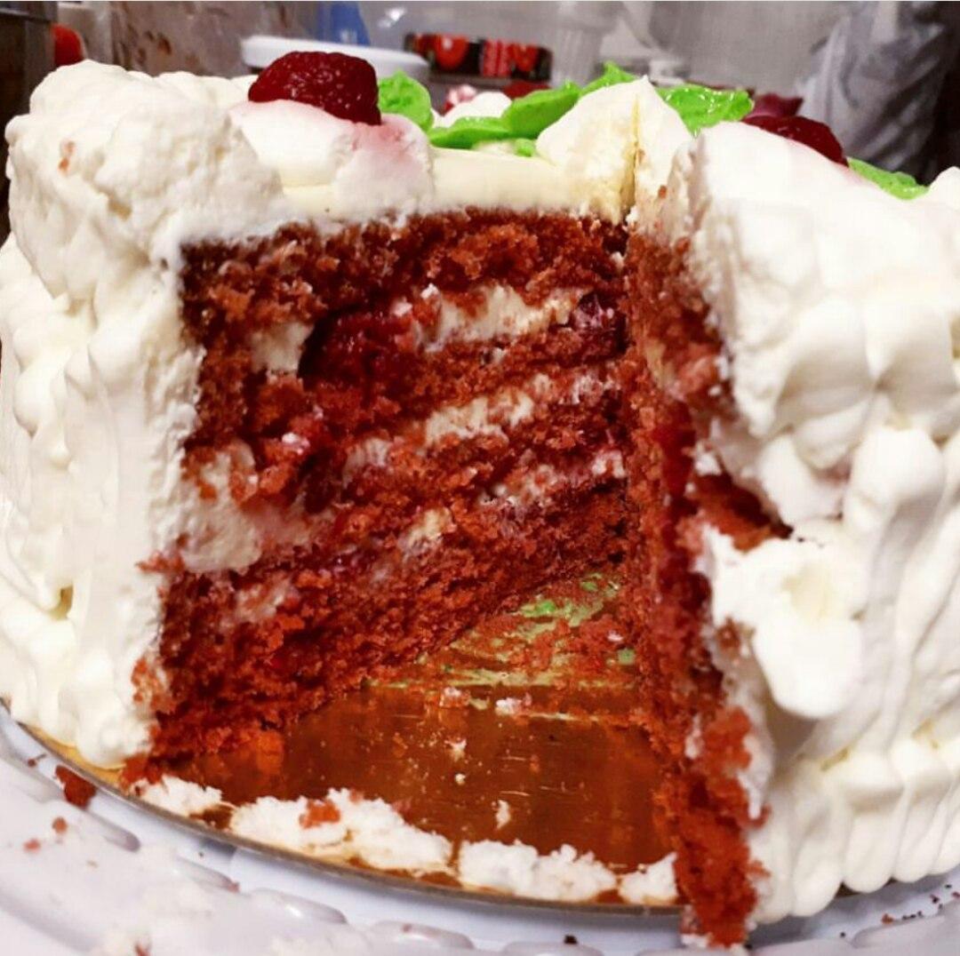 """Торт """"Красный бархат"""" малиновый"""