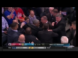 Charles Oakley shoves Madison Square Garden security and is escorted out of the building in strange scene