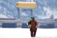 03 марта 2012 - Пеший поход из Тольятти в Жигулевск по льду Волги, вблизи Жигулевской ГЭС