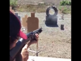 Keanu Reeves Shows Off His Gun Skills