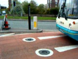 ATG Access Bollard working at the Chester Bus Gate, UK