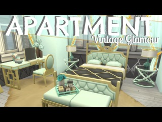 The Sims 4: VINTAGE GLAMOUR APARTMENT   MINT GOLD (SPEED BUILD) NO CC