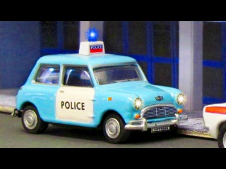 The Blue Police Car Chase   Service & Emergency Vehicles Cartoons for children