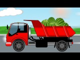 The Red Truck and The Excavator - Construction Trucks Video - World of Cars for children