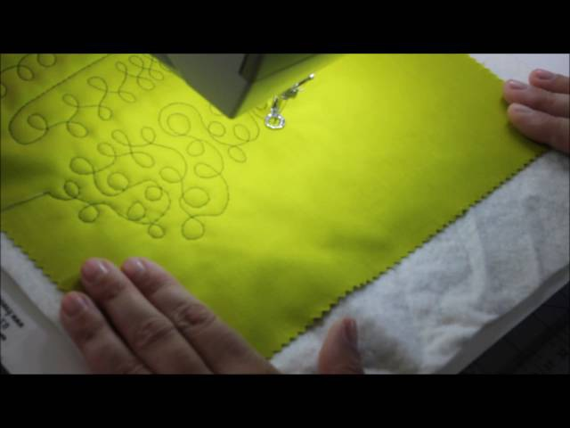 Free Motion Quilting - 8 designs using one basic motion