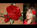 Роза Канзаши на Афинке мастер класс / DIY Kanzashi Rose