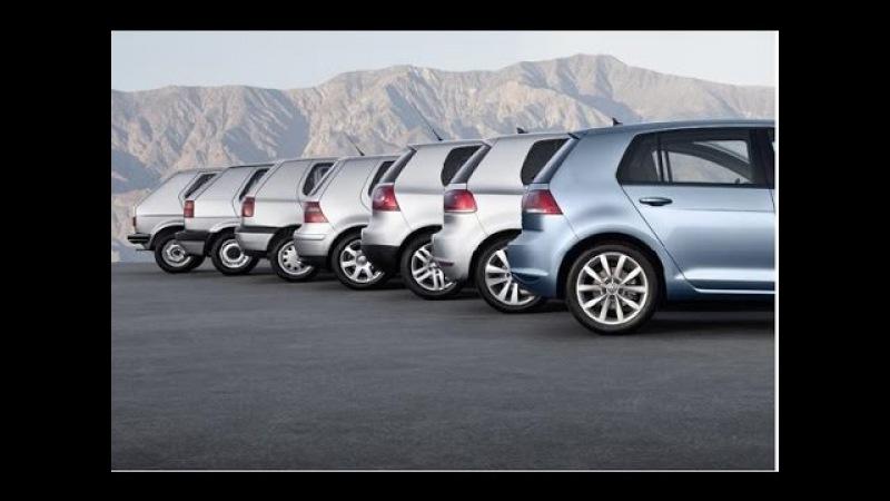 Эволюция хэтчбека Volkswagen Golf с 1 по 7 поколение