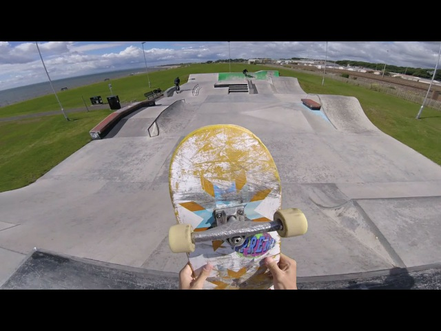 От первого лица сессия Skate Sesh - GoPro HERO4 face