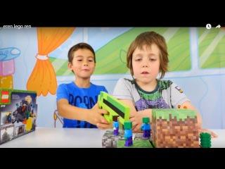 Süper oyunlar - Türkçe erkek çocuk vieoları/oyunları. Adrian ve Eren ile MineCraft Legosu oyunu