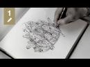 Sketchbook 01 Radish family portrait pencil drawing time lapse