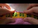 Двухцветное вязание без перетяжек МК спицы
