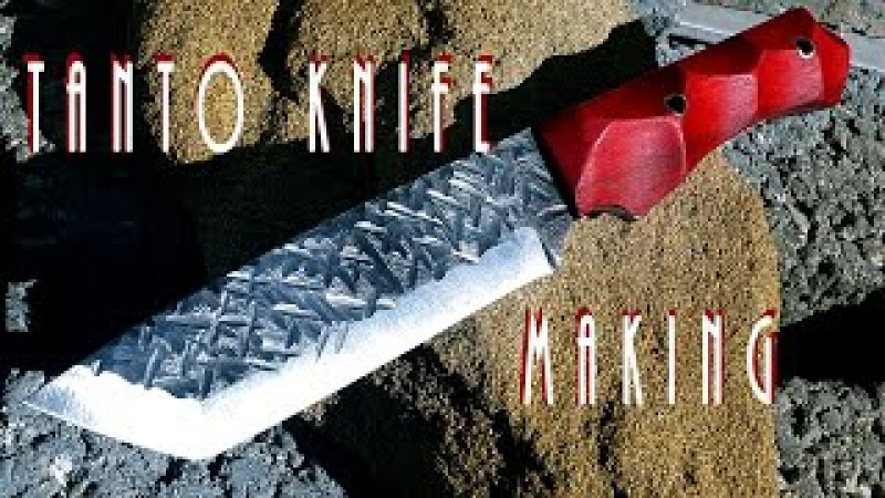 Making of Tanto Knife by gabru90