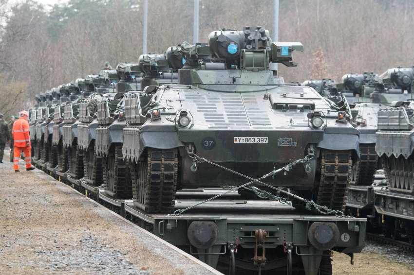 Прибытие техники Армии США в Венгрию ФОТО