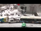 Montreal First Snow of the year creates back to back accident 05.12.2016