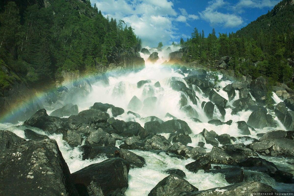 Чульчинский водопад,Учар, водопад алтая, водопад учар