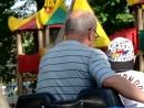 Катаемся с дедушкой после выступления в парке Юность