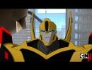 Трансформеры роботы Под прикрытием комбайнер ворс 3 сезон 7 серия небольшой отрывок Cartoon Network HD